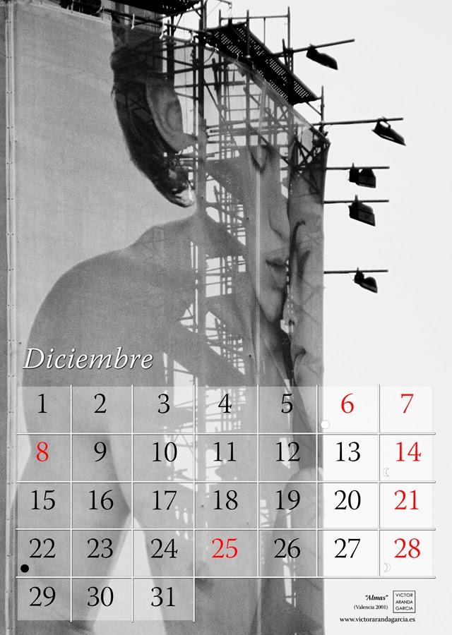 Diseño de una página de un calendario con la fotografía