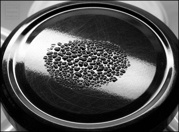 Condensación de agua sobre una tapa