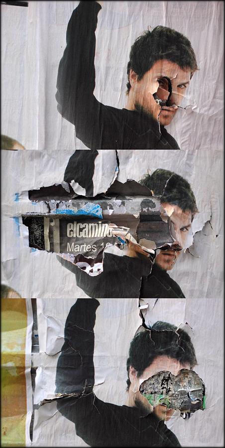 Fotografías de tres carteles en los que sale el cantante Dani Martín